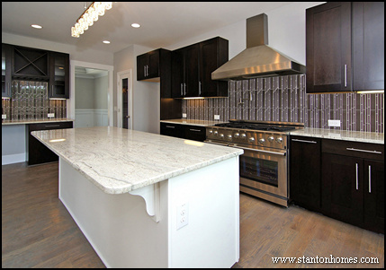 Lovely Practical Tips To Create A Better Kitchen | Mixing Dark Kitchen Cabinets  With Light Granite