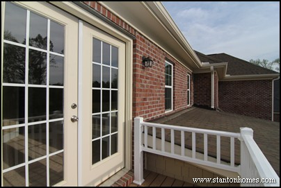 Outdoor living connected to the master suite   Master suite deck