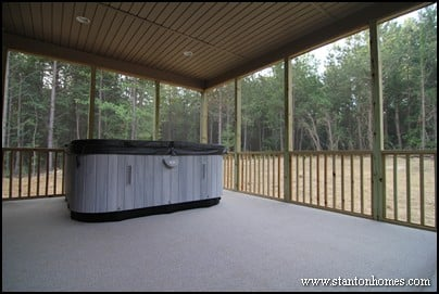 Outdoor living connected to the master suite | Master suite deck