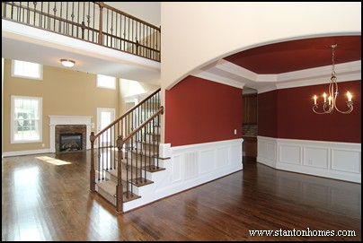 Dining Room Wall Idea #2: Rectangle Wainscoting Panels