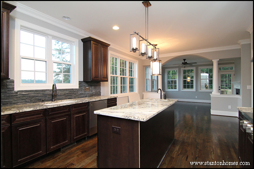 Elegant Practical Tips To Create A Better Kitchen | Mixing Dark Kitchen Cabinets  With Light Granite