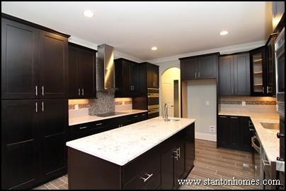 Attractive Practical Tips To Create A Better Kitchen | Mixing Dark Kitchen Cabinets  With Light Granite