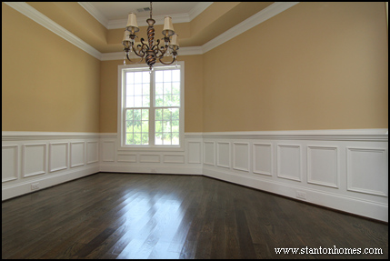 Elegant Dining Room Wall Idea #3: Square Wainscoting Panels