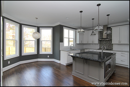 Kitchen layout ideas | Raleigh luxury home builders