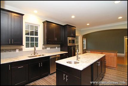Kitchen layout ideas   Raleigh luxury home builders