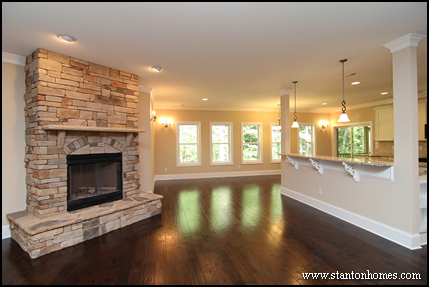 fireplace raised hearth. 14 Custom fireplace designs for 2014 New Home Building and Design Blog  Tips