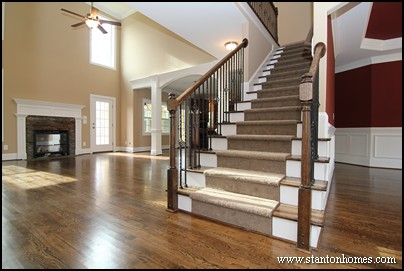 Captivating Eight Staircase Flooring Options | Cary NC New Home Types Of Staircases