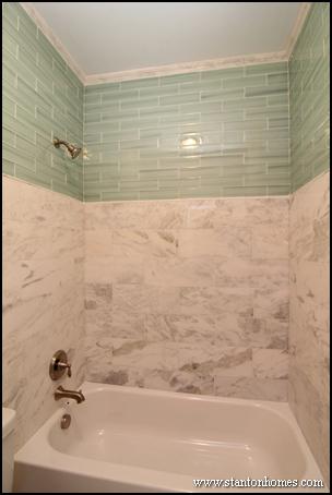 Tile Bathtub Surrounds | White, Black, and Gray Tile Designs