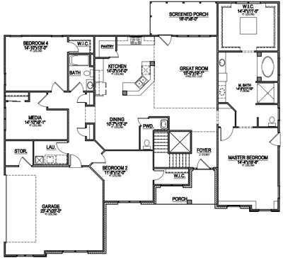 special floor plan features include