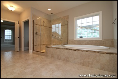 & 2014 Master Bathroom Trends | NC New Home Shower Enclosure Styles