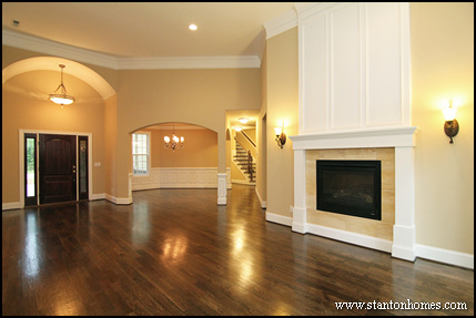 Custom Staircase Photos | North Carolina open concept floor plans