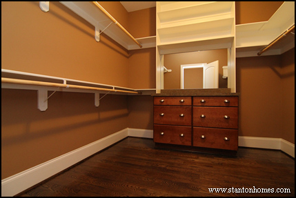 Walk In Closets for the Master Suite   Hillsborough New Homes