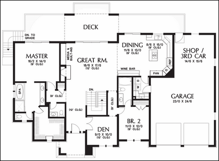 One story floor plans with basements – Single Floor House Plans With Basement