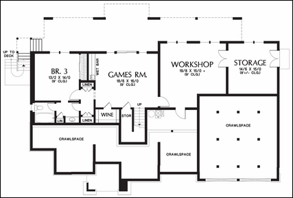 Awesome One Story Floor Plans With Basement