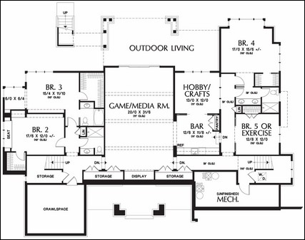 story floor plans with basements