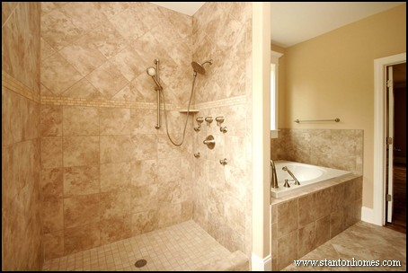 superb master showers large charcoal black pebble tile border ...