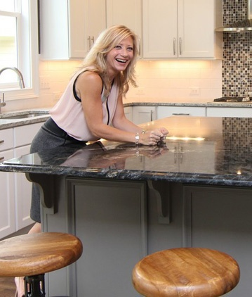 Bronze Faucet with Stainless Steel Sink   Cary Custom Home Design