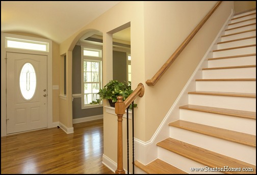 Cary NC New Homes   Open Staircase Design