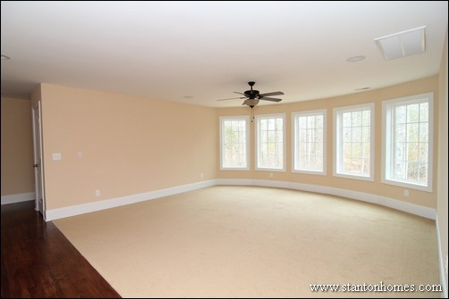 Upstairs Bonus Room Plans | Raleigh Brick Homes