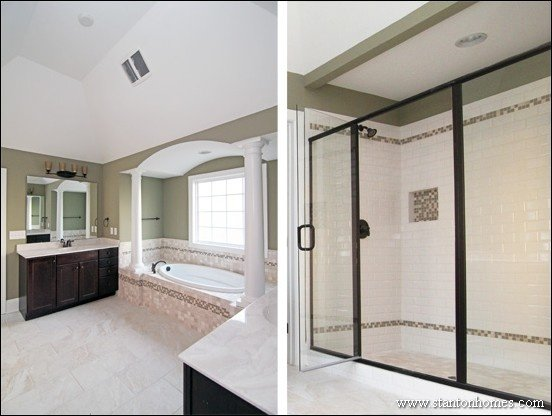 Best Designs for the Master Bath   Raleigh Custom Home Builders