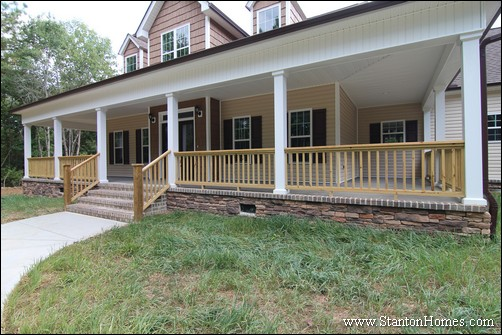 Wrap Around Porch Cost   Raleigh New Homes