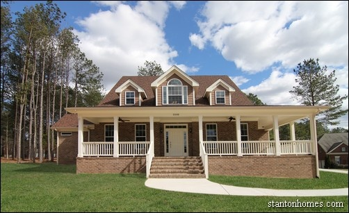 Brick Farmhouse Exterior | Farmhouse Builders Raleigh