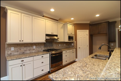 Popular Tile Backsplash Styles  Paint Tones  and Cabinet Colors   NC New  Homes  This Stanton Homes custom kitchen design  Top 5 Battles in NC Kitchen Designs   Color  Tile  Cabinets   More. New Homes Kitchen Designs. Home Design Ideas