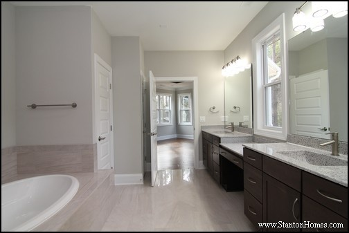 Best Grey Paint Colors 2017   SW 7015 Repose Gray. This Master Bathroom ...