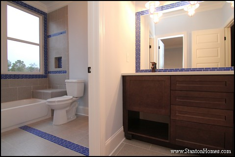 Blue Bathrooms | Blue Tile in the Bath