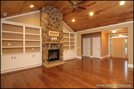 Cost of Built In Bookshelves Around Fireplace | Raleigh New Homes