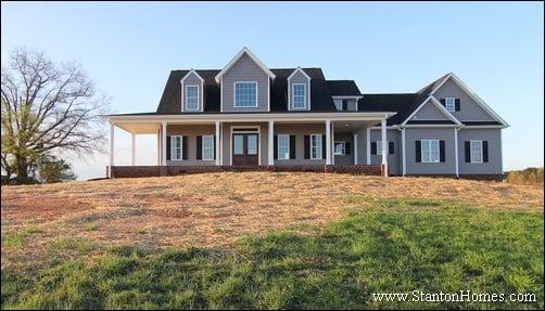 gray farmhouse exterior photos farmhouse builders raleigh - Farmhouse Exteriors