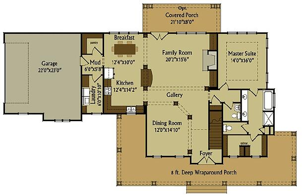 New Home Building and Design Blog Home Building Tips – Farm House Floor Plan