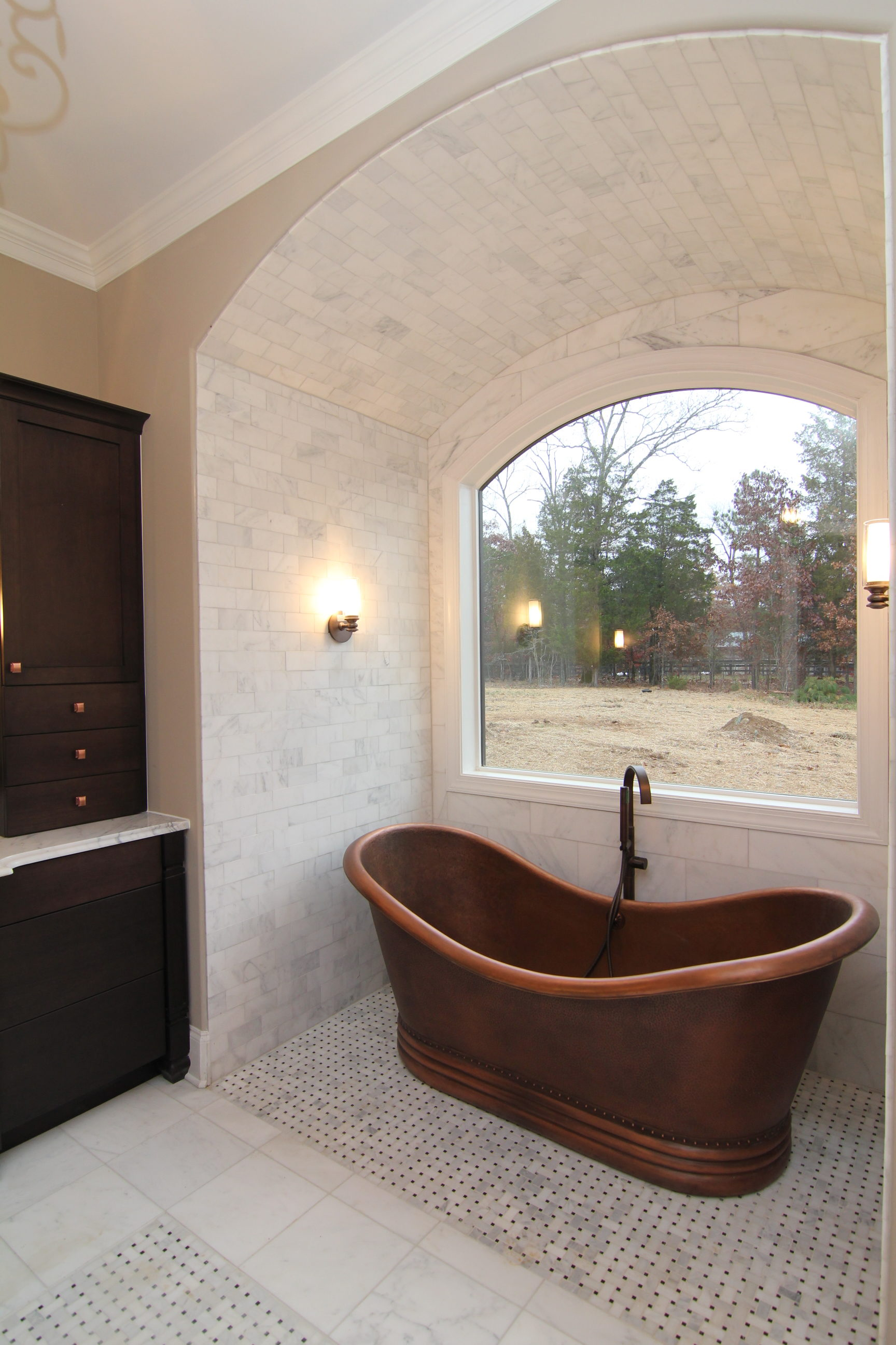 Master Bath copper tub