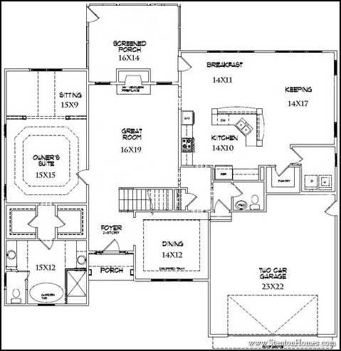 Main Floor Master Floor Plans   1st Floor Master Suite