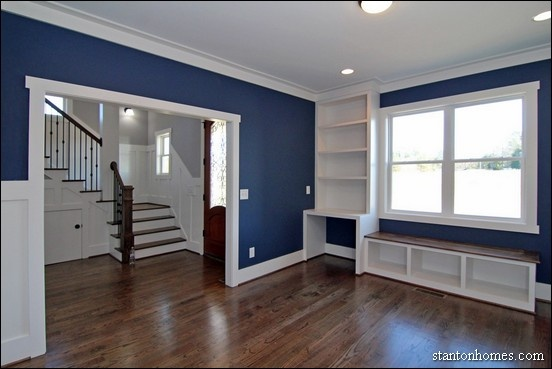 Navy Painted Rooms
