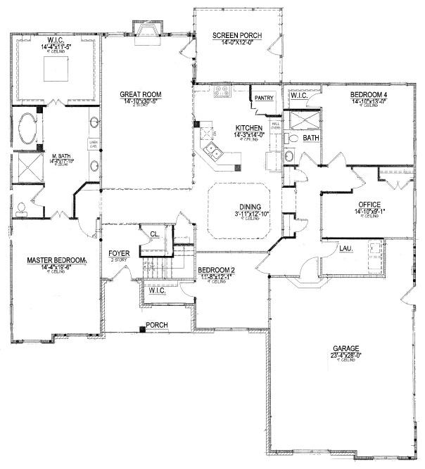 master bedroom with office floor plans. Top 5 Downstairs Master Bedroom Floor Plans  with Photos