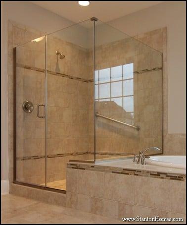 Shower Door Design Ideas for Raleigh New Custom Homes