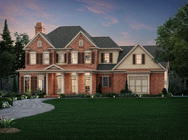Downstairs Master Floor Plan | Raleigh New Homes