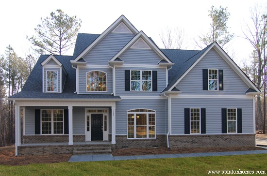 blue exterior colors raleigh new homes