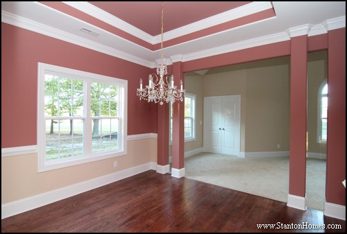 Elegant Top 5 Red Paint Colors For The Dining Room | North Carolina Custom Homes
