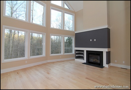 Cost of Built In Bookshelves Around Fireplace   Raleigh New Homes