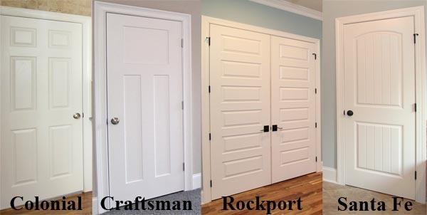 Captivating Interior Door Styles | NC New Home Door Styles