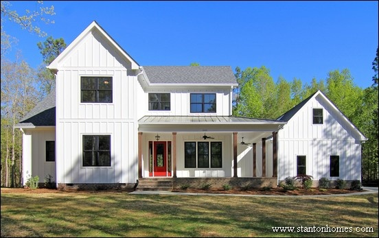 Raleigh white modern country farmhouses
