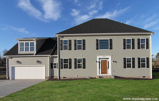 Gray Exterior Colors   Raleigh new homes