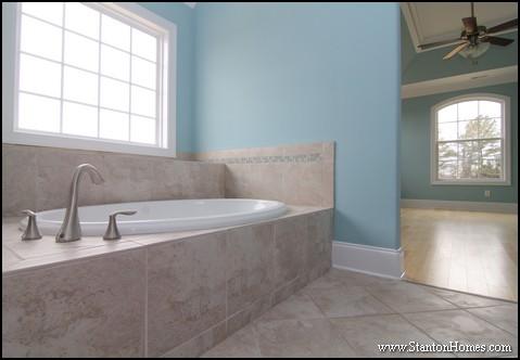 Tile Tub Surround Ideas Blue Bathroom