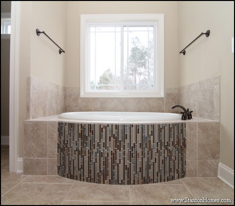 Curved Slate Blue Tile Tub Surround. New Home Building and Design Blog   Home Building Tips   tile tub