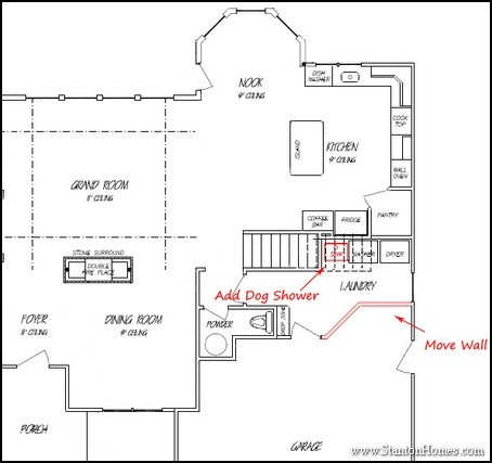 house plan with mudroom shower.  room layout in this floor plan BrysonLaundryPlan1 10 Small Laundry Room Ideas With Answers to Common Home Building