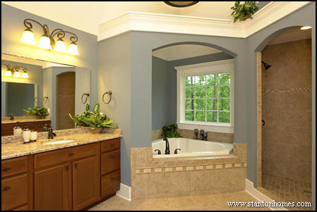 Top Shower Designs Without A Door From North Carolina Custom Homes - Custom tiled shower designs