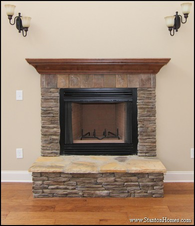 Five Wood Fireplace Mantel Designs   Raleigh Custom Homes for Sale
