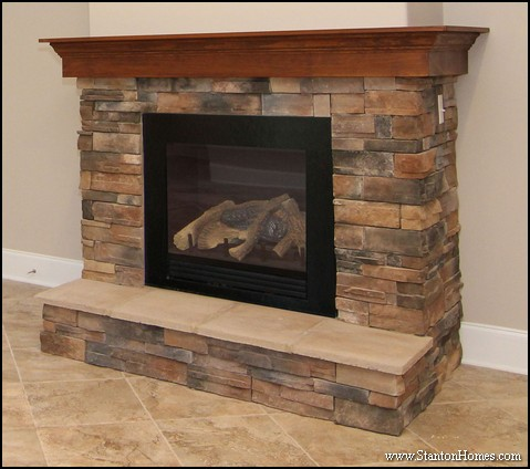 Five wood fireplace mantel designs - with photos - for your Raleigh new home ideas.